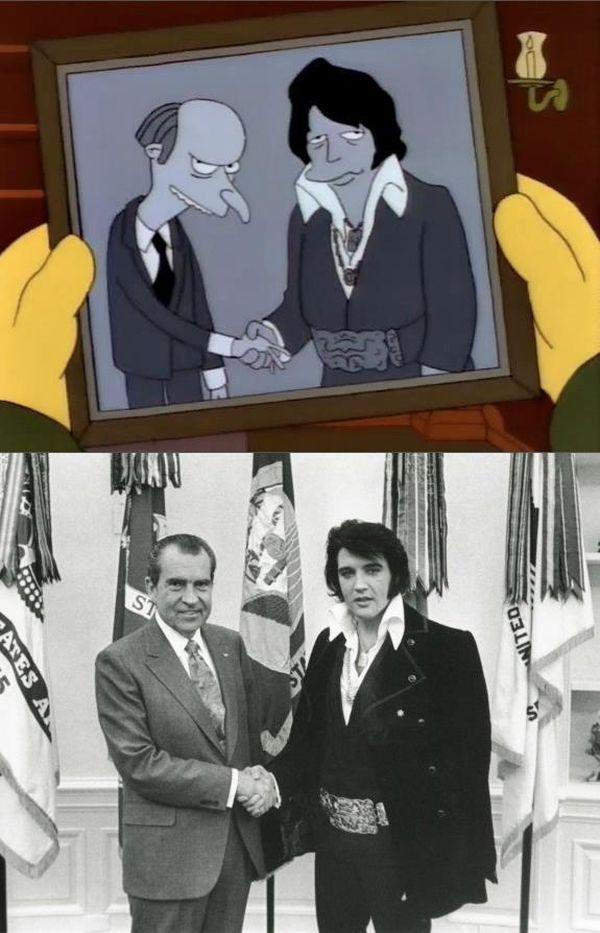 Fotos históricas marcantes reproduzidas nos Simpsons