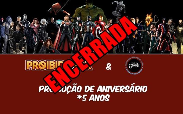 Promoção encerrada! Concorra a um Kit Marvel no aniversário de 5 anos do blog!
