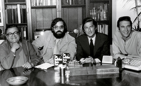Mario Puzo, Coppola, Robert Evans, and Al Ruddy