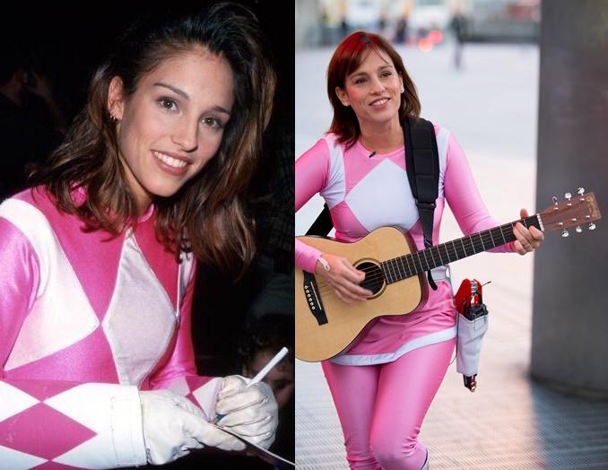 Ranger Rosa e Batman tocam violão nas ruas pra promover novo filme 4-horz