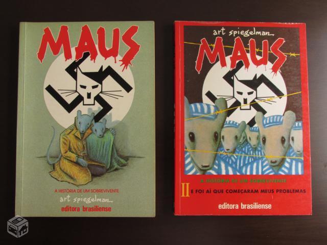 Os dois volumes que foram publicados antes de sair a edição com a história completa