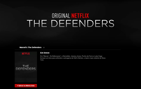 Netflix divulga Demolidor, Jessica Jones, Luke Cage, Punho de Ferro e Defensores