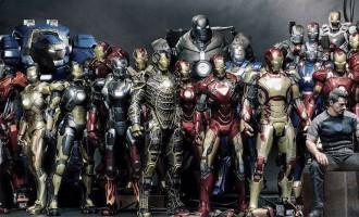 A evolução dos trajes do Homem de Ferro em um só gif