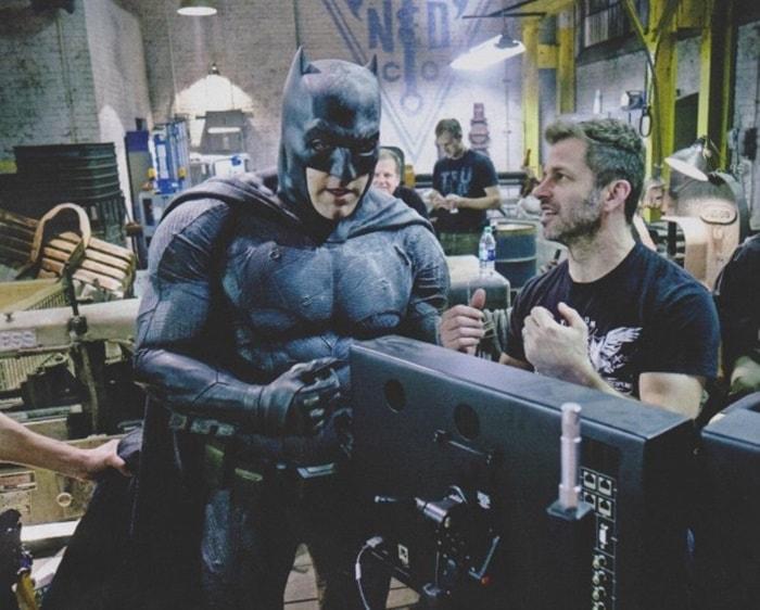 Batman (Ben Affleck) e o diretor Zack Snyder