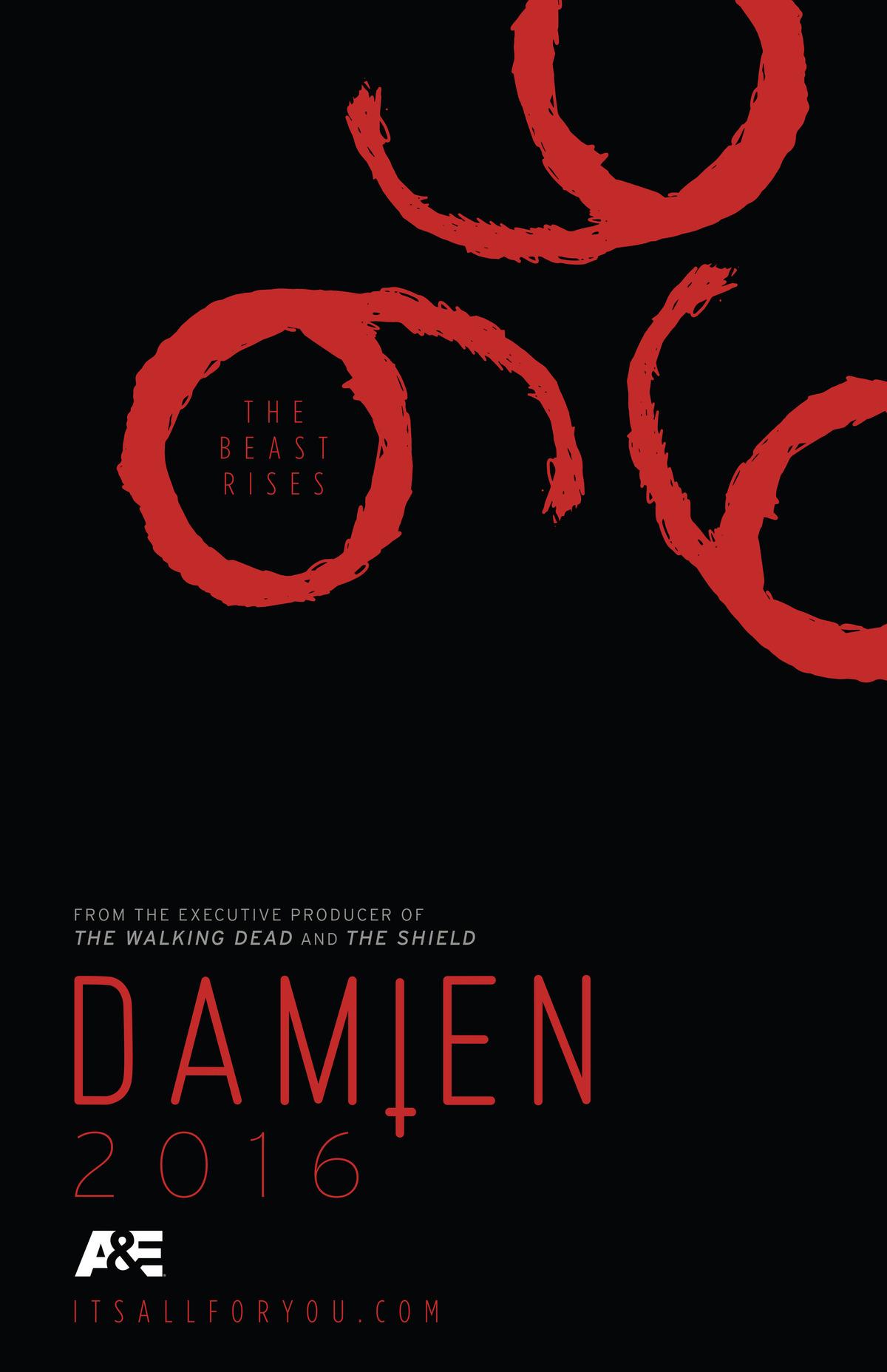 Damien | Confira o poster oficial da série para a Comic-Con