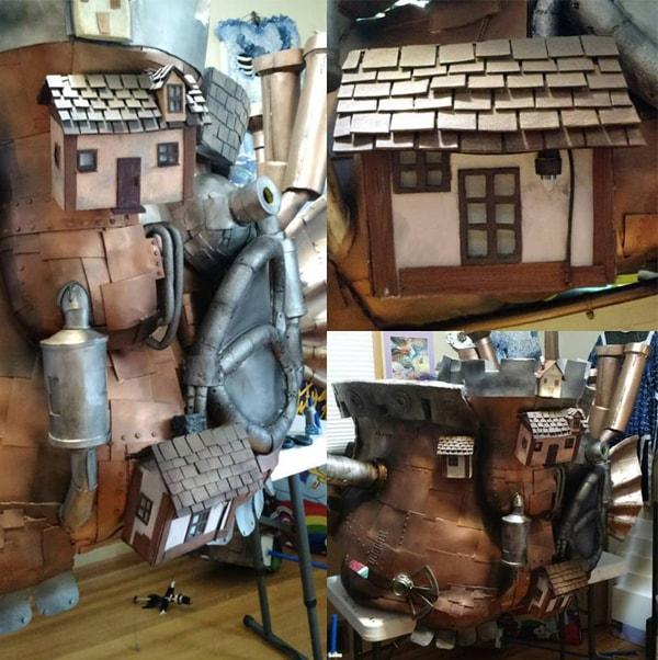 O Castelo Animado | Cosplayer cria modelo perfeito de castelo do filme