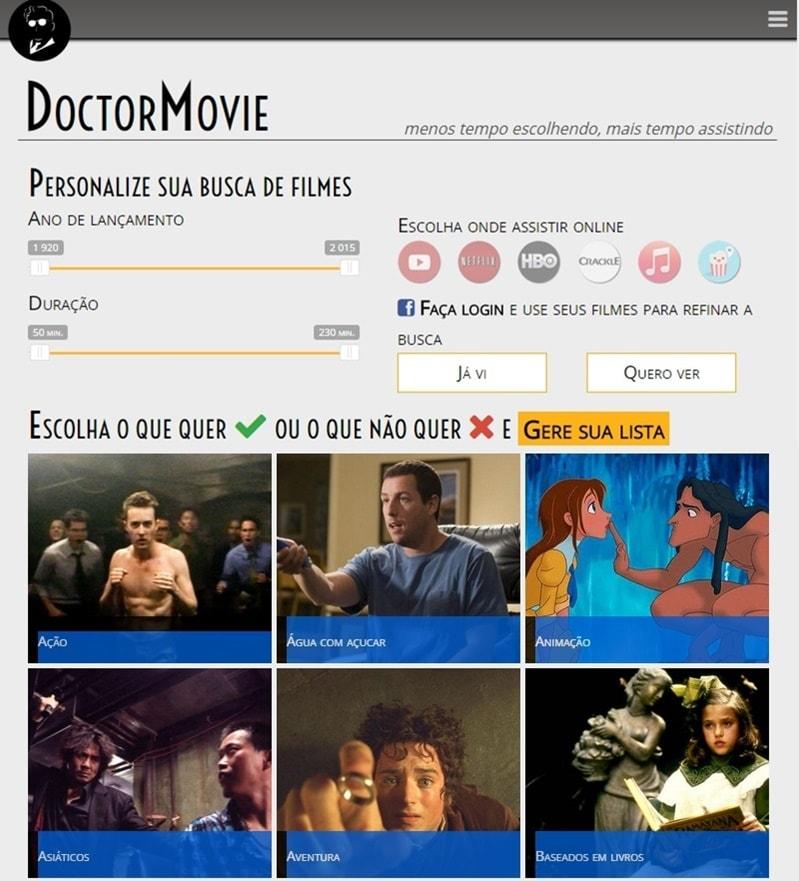 """DoctorMovie, o site que atua como """"Tinder do Cinema"""""""