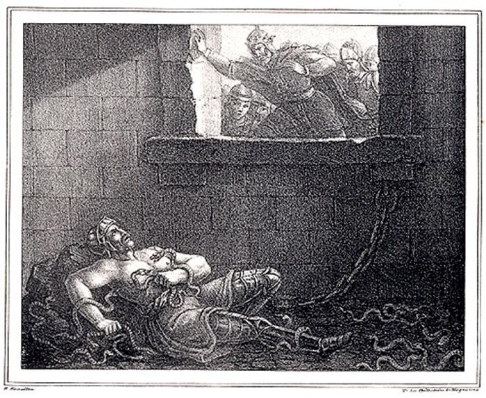 A morte de Ragnar Lothbrok.