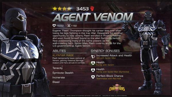 Marvel Contest of Champions | Agente Venom junta-se a lista de personagens