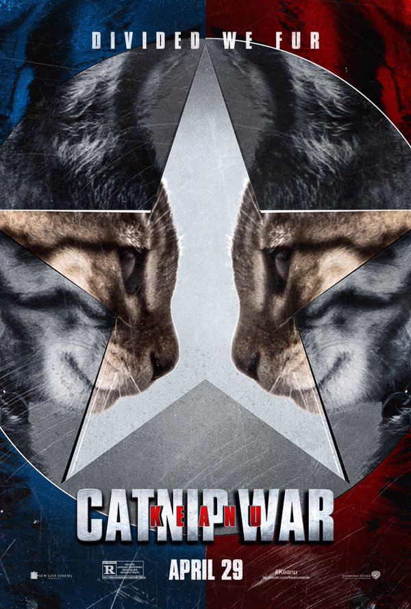 Keanu   Novo pôster parodia Capitão América: Guerra Civil