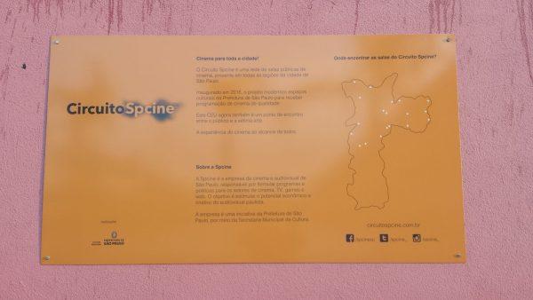 Mapa que fica na parte externa da sala com o endereço de outras salas da circuito