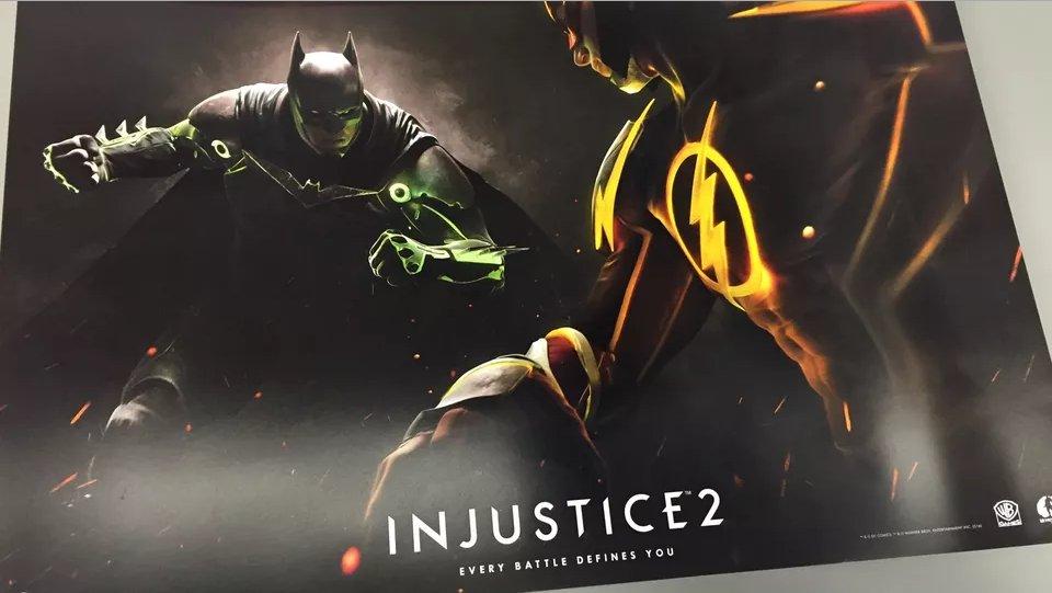 Injustice: Deuses Entre Nós | Pôster promocional confirma jogo sequência