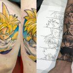 Ele é fera nas tatuagens de Dragon Ball e Naruto