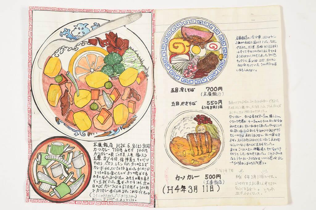 Chef faz ilustrações deliciosas de todas as suas refeições há 32 anos