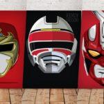 20 artes incríveis de capacetes de séries tokusatsu