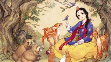 Exposição apresenta personagens da Disney com vestimentas tradicionais coreanas